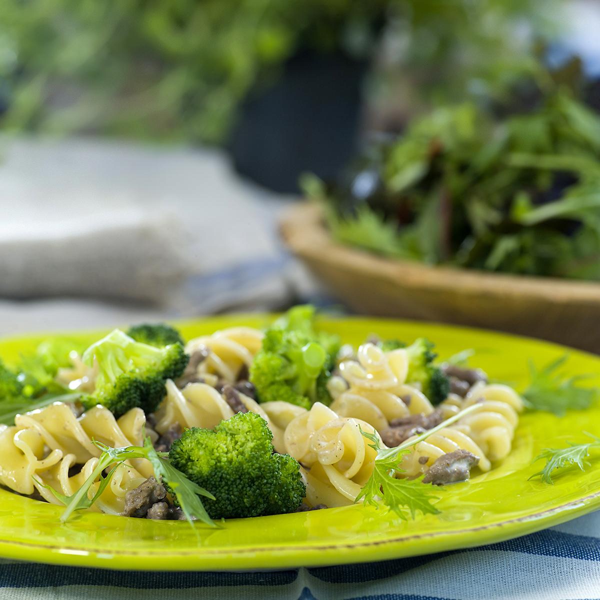 karbonadedeig-med-pasta-og-brokkoli