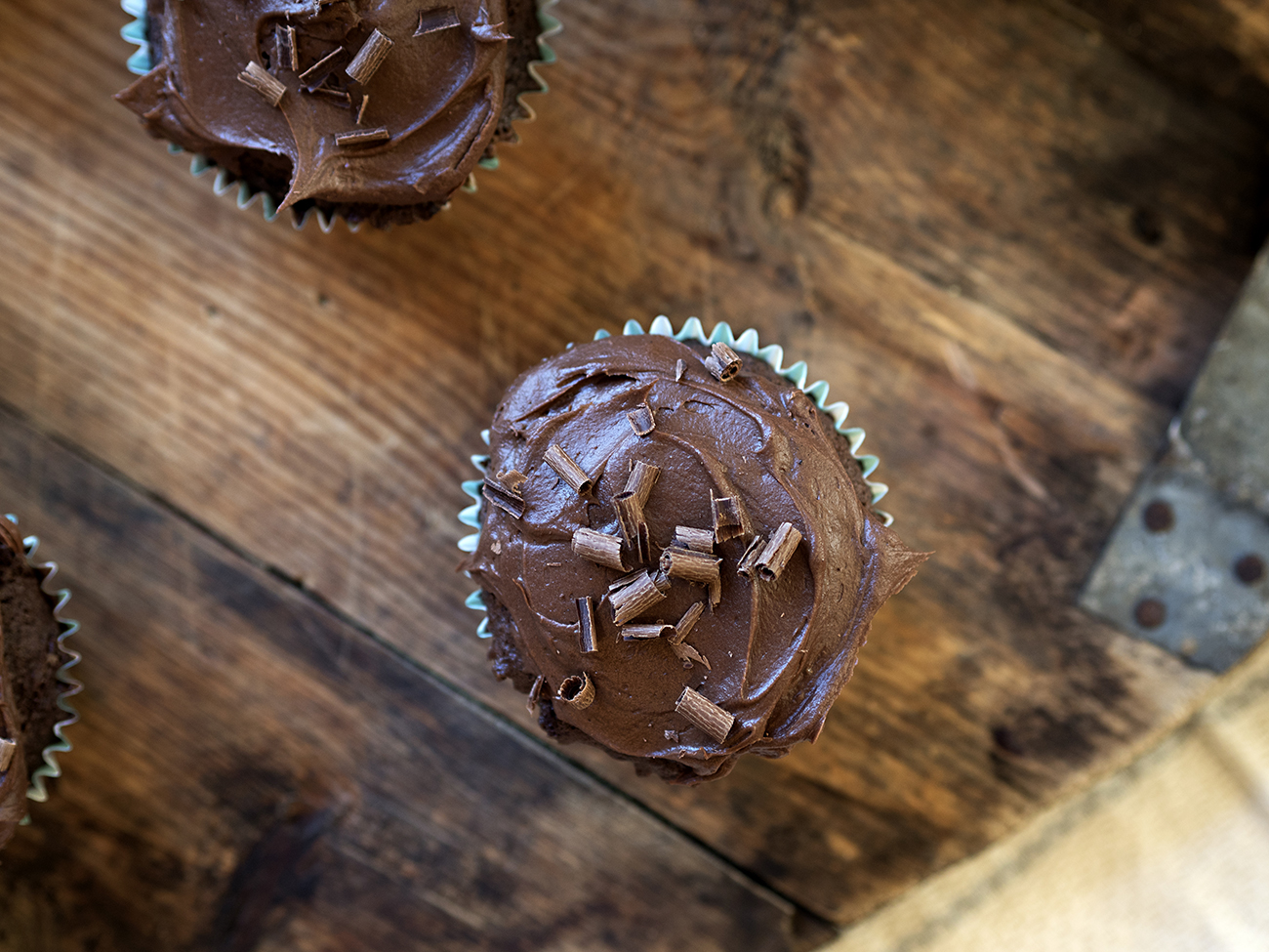 sjokolade cupcake med sjokoladeglasur