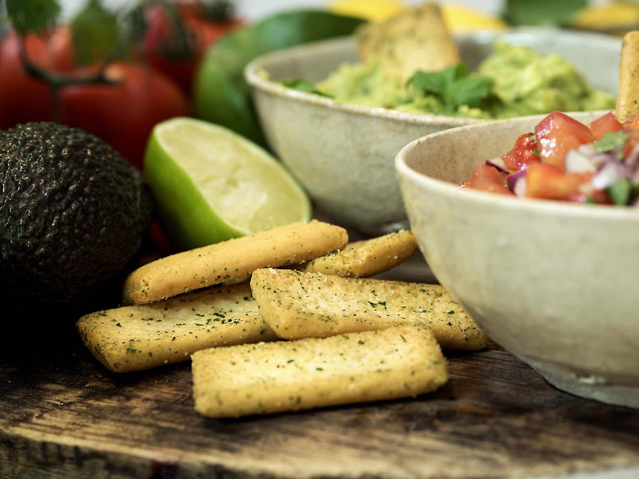 salsa og guacamole