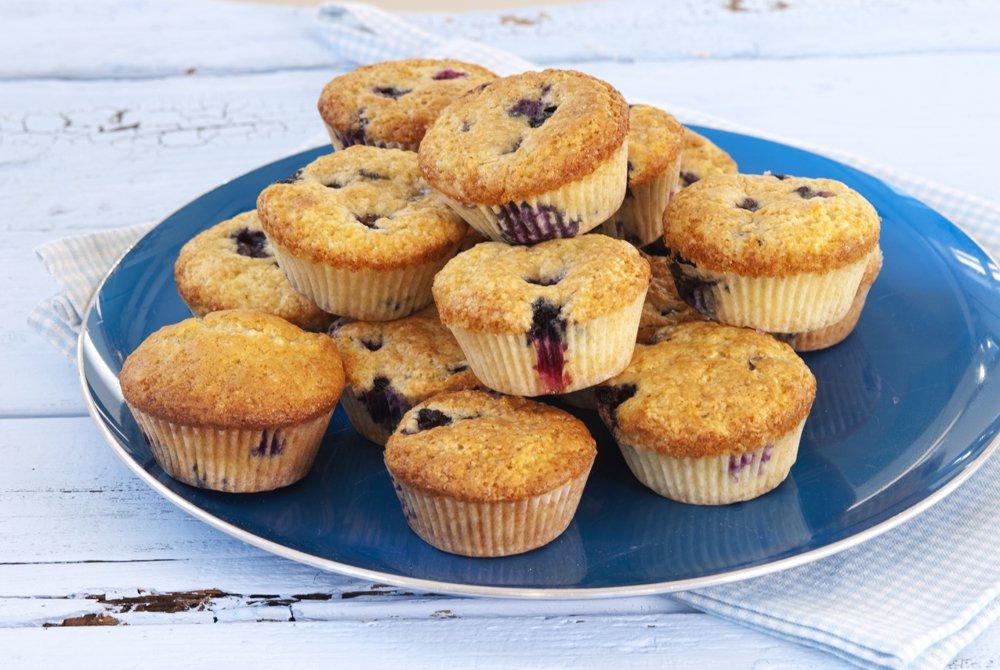 Superkjappe blåbærmuffins