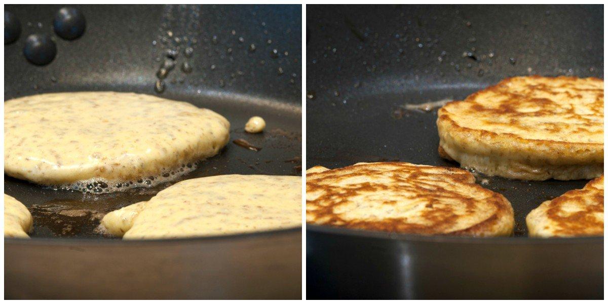 Små pannekaker med røkt laks og rødbeter