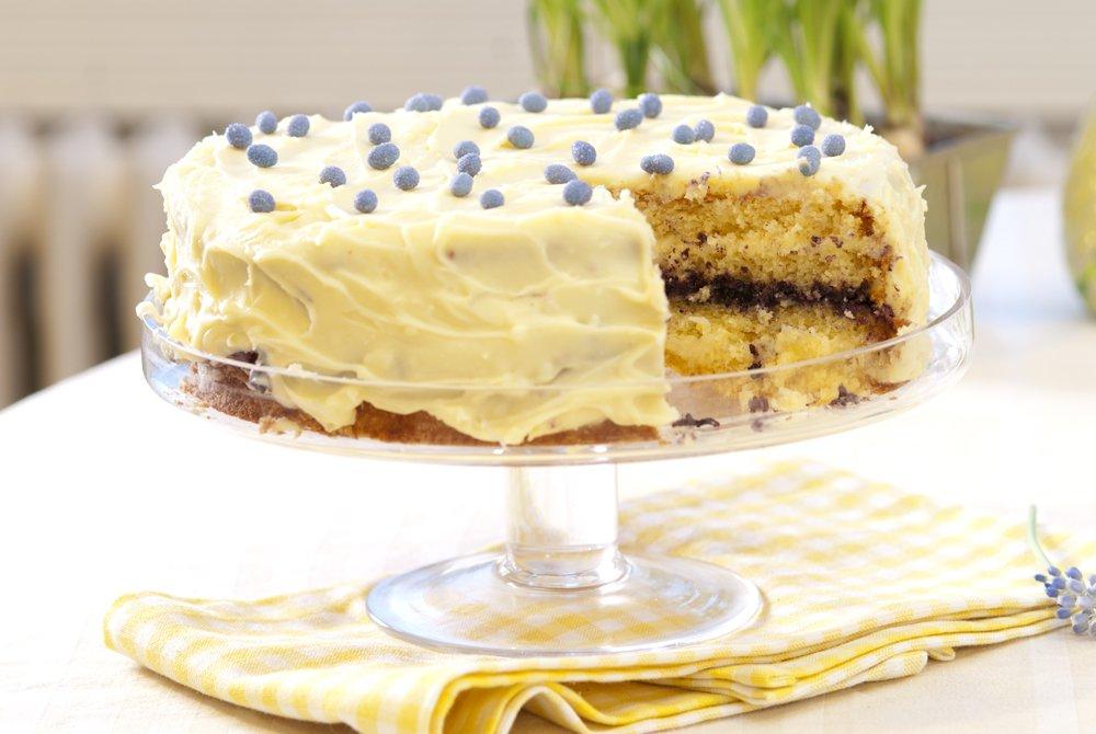 Hvit trøffelsjokoladekake