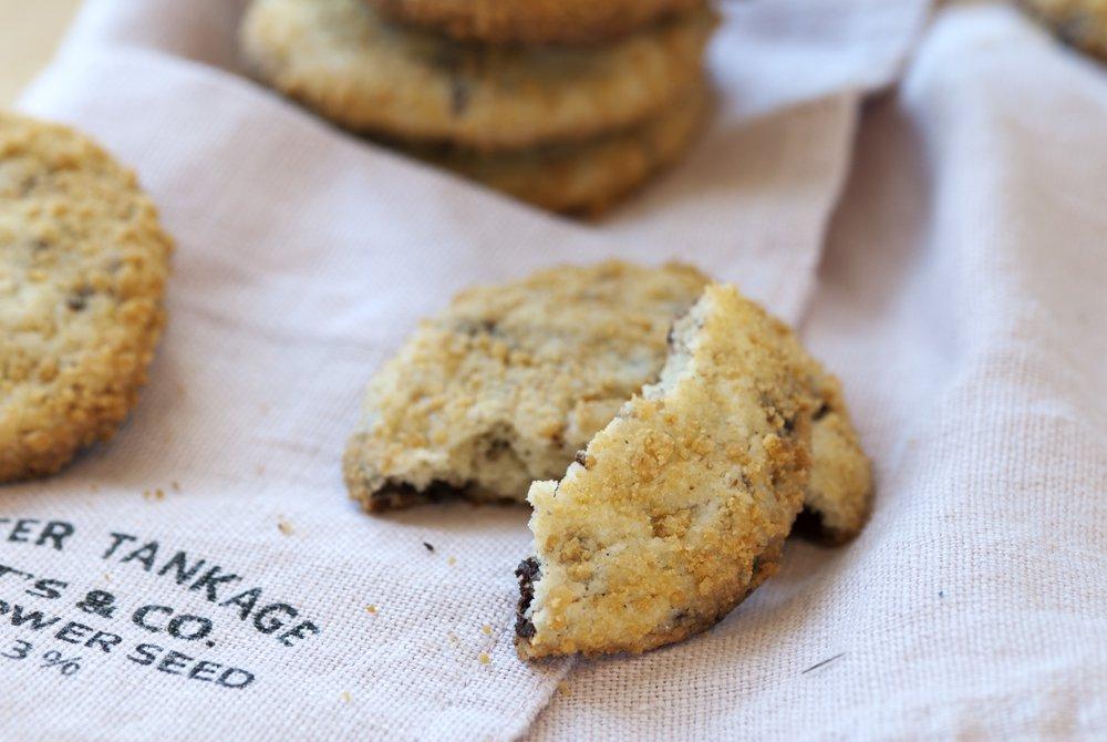 Polly's tearooms egne sjokoladecookies med kremost
