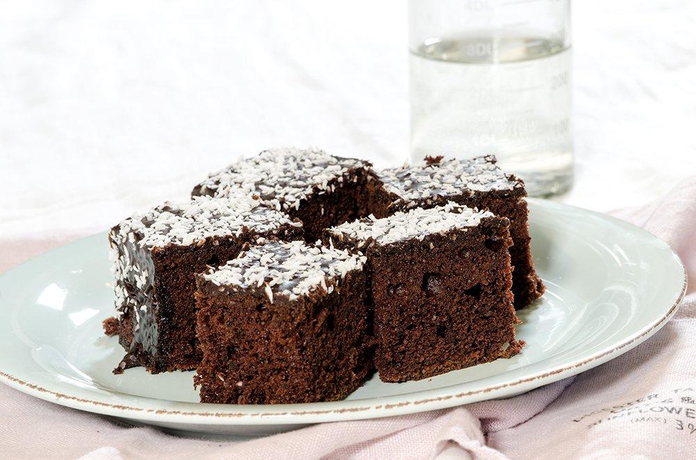 Sjokoladekake i langpanne