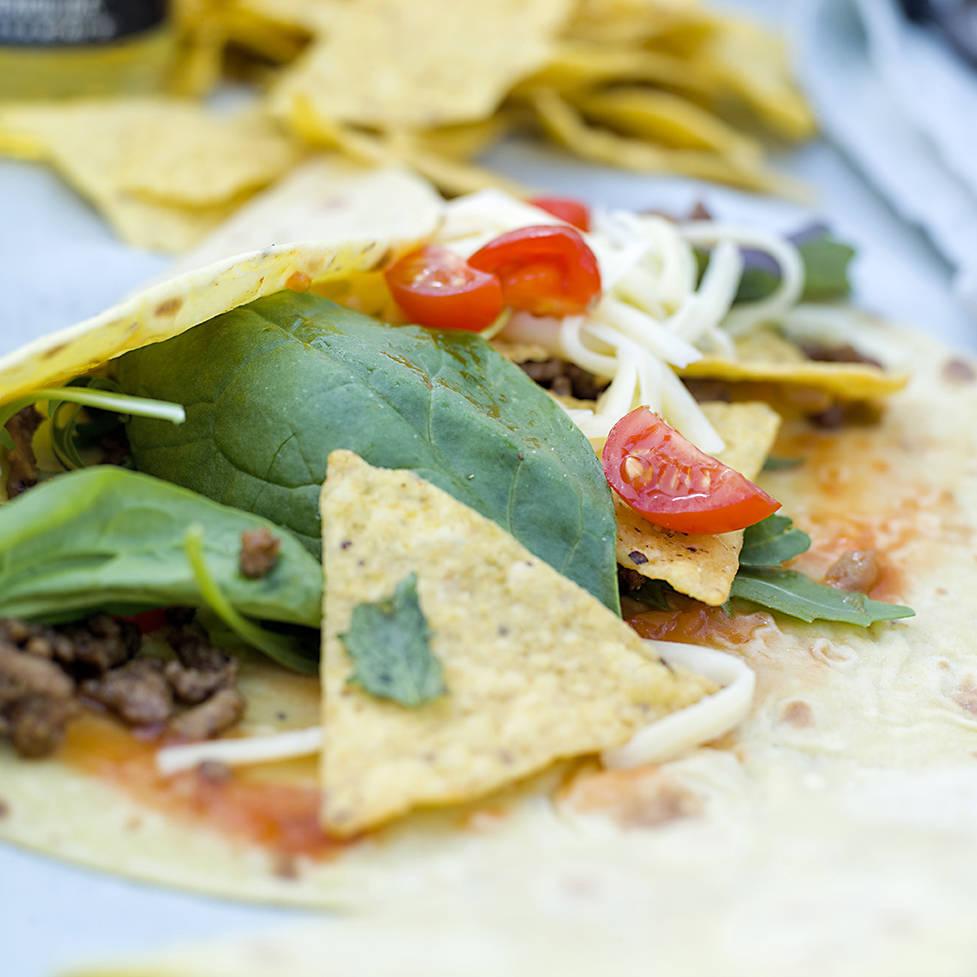 Kjapp taco med ferske lefser