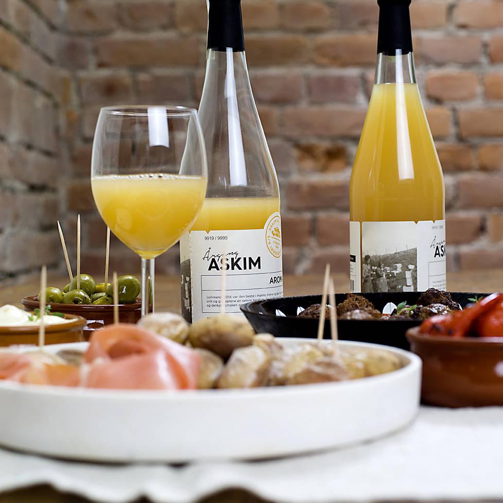 Spansk tapas med eplemost fra Askim