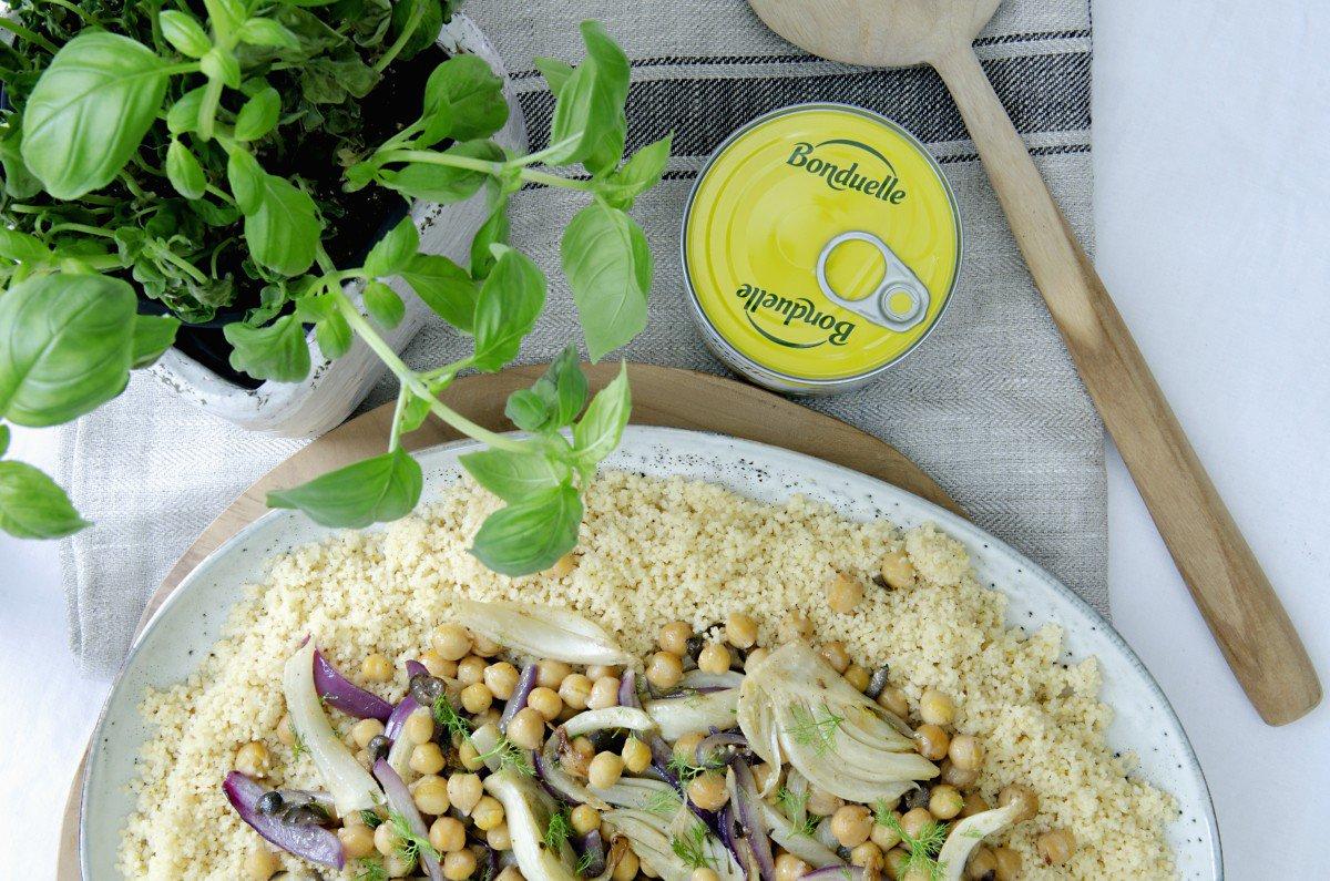 couscous med fennikel og kikerter