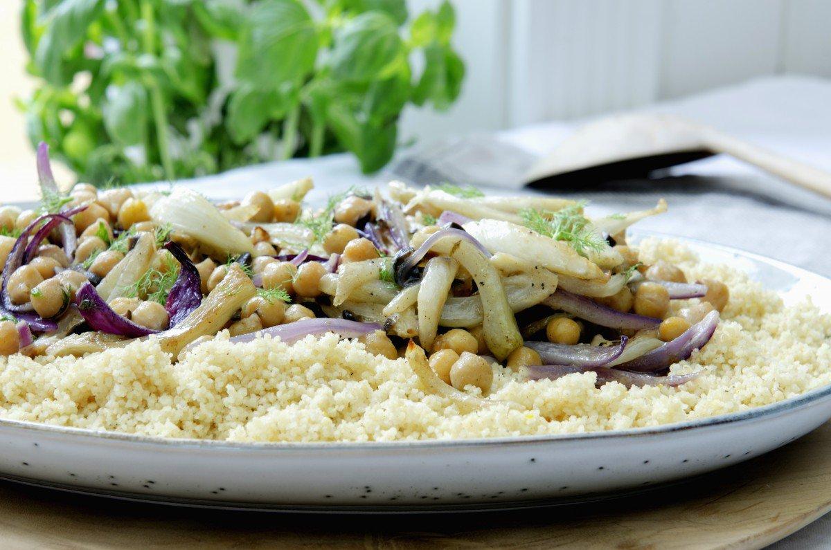 kikertsalat med couscous