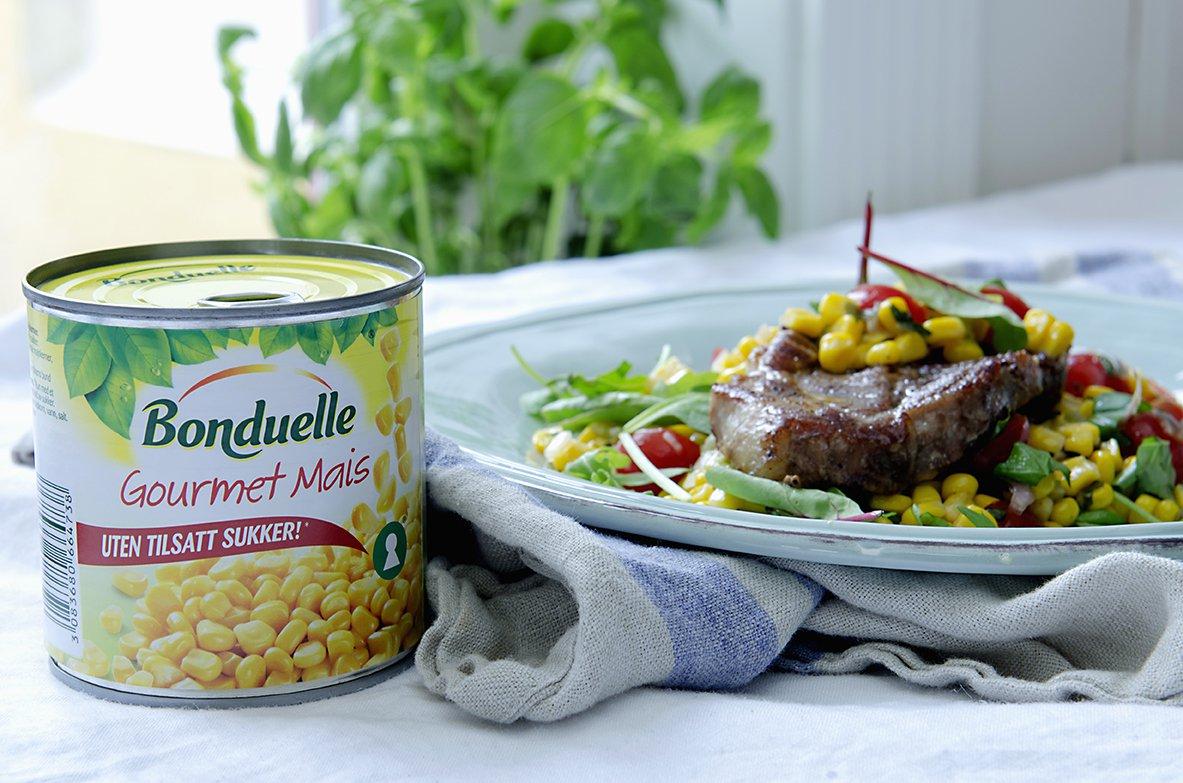 maissalat med grillede koteletter 2