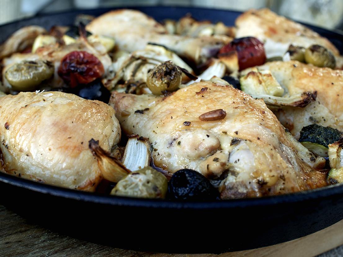 kylling og grønnsaker one pot