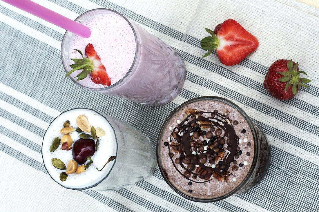 hjemmelagde milkshakes