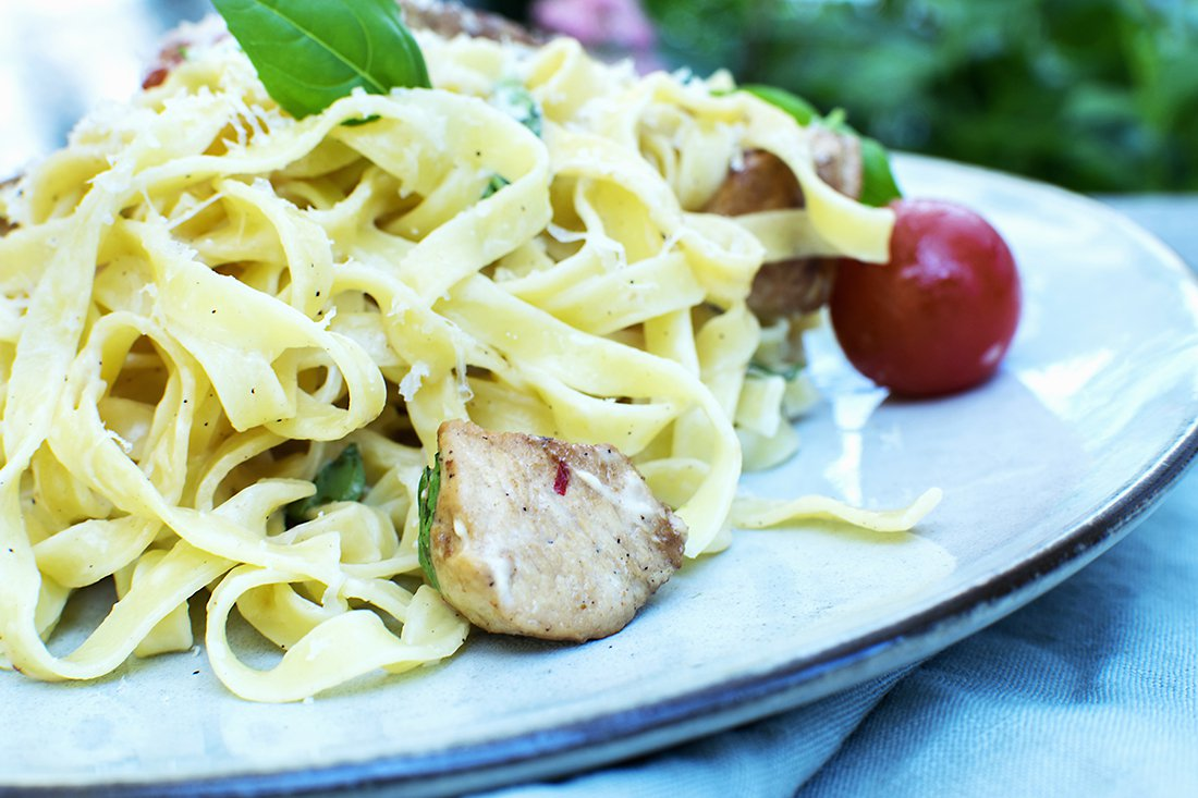 kylling og pasta