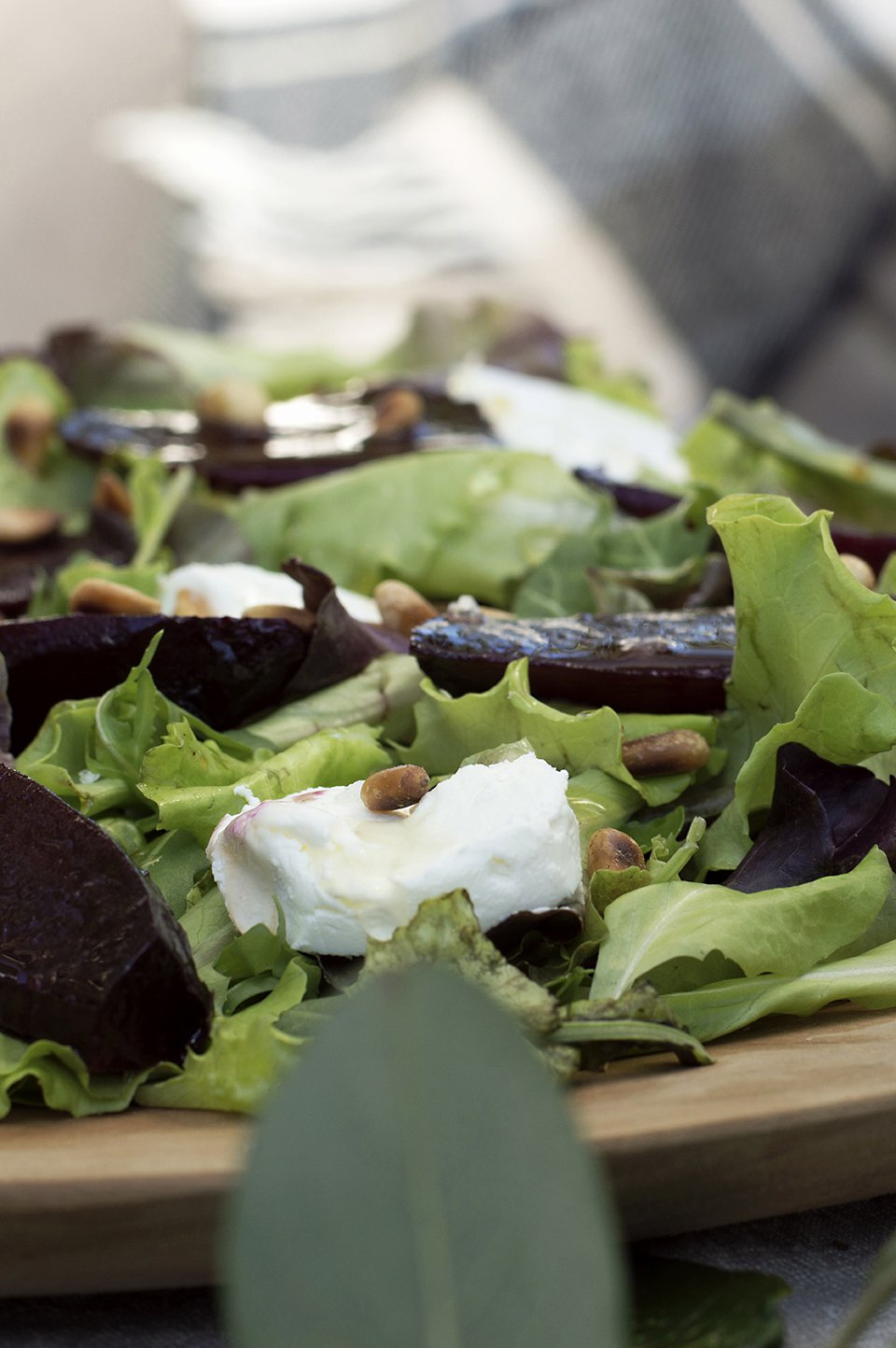salat med ovnsbakte rødbeter og chevre 3