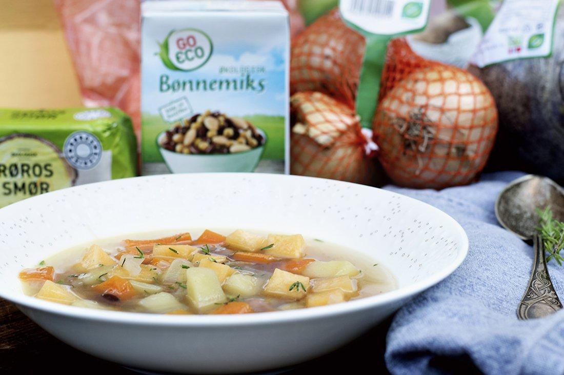 grønnsakssuppe - meny 2