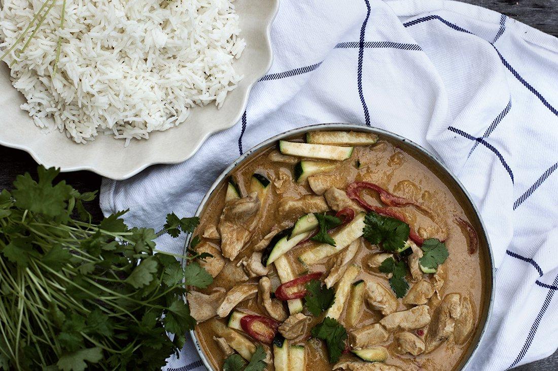 kylling i kjapp currysaus