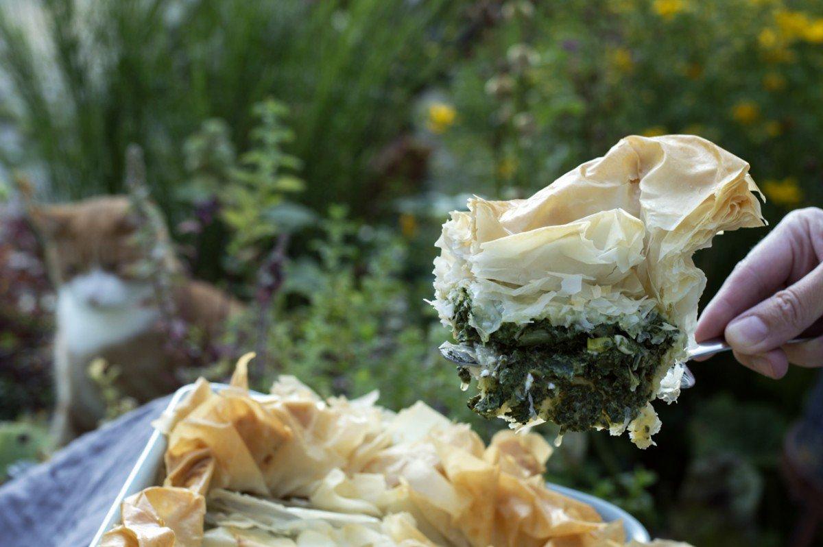 spinatpai med fetaost og filodeig