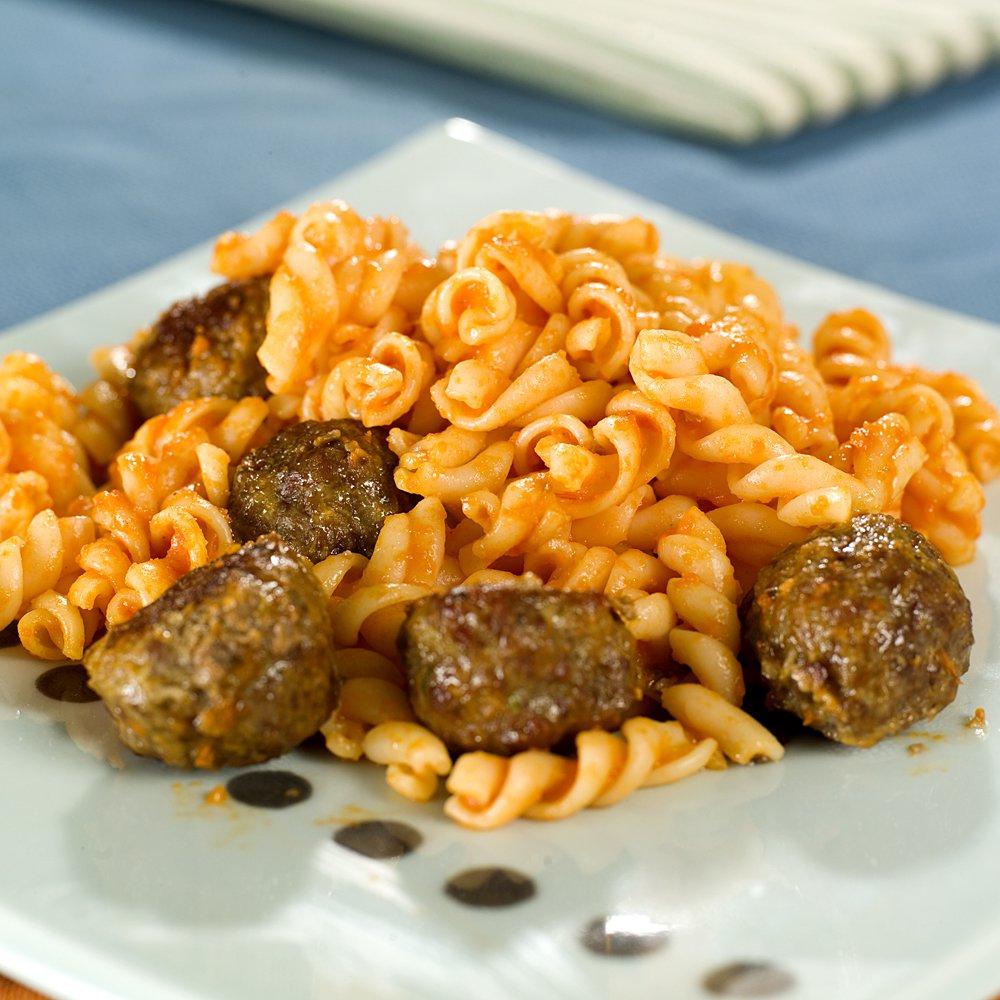 Lammeboller og pasta