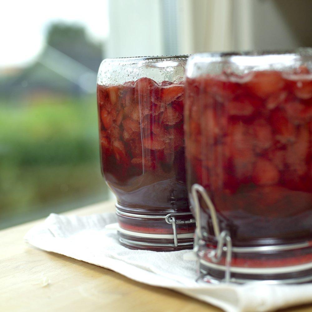 Hjemmelagd jordbærsyltetøy