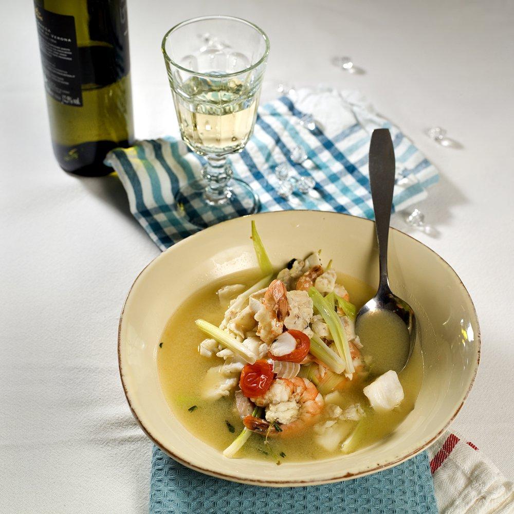Bouillabaisse - fransk fiskesuppe
