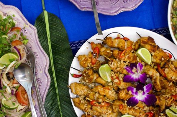 Fargerik thailandsk mat