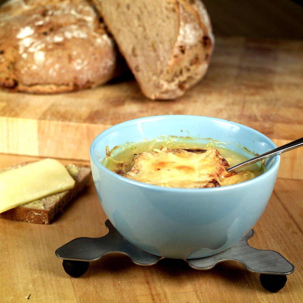 Fristende fransk løksuppe