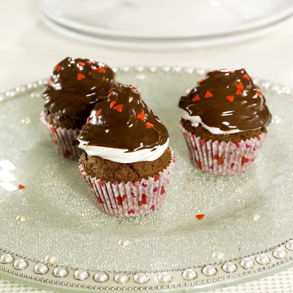 Sjokolademuffins med hatt