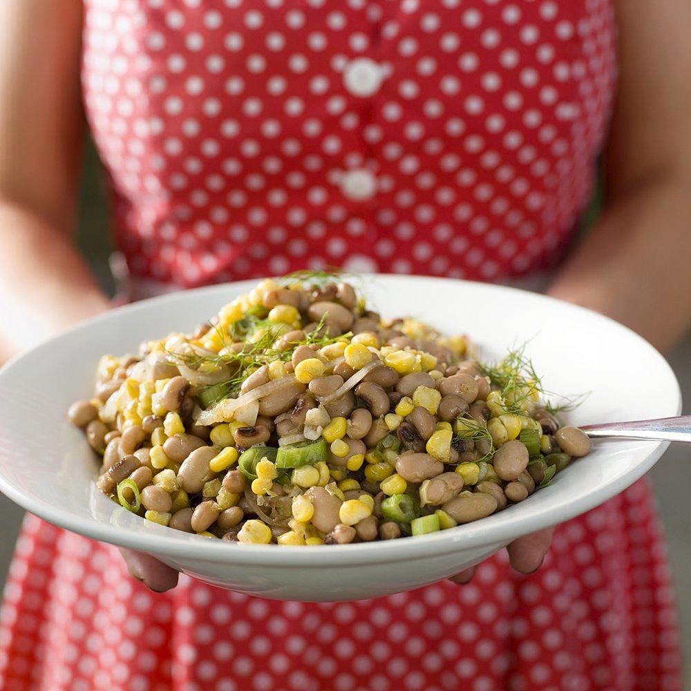 Lun salat med bønner og mais