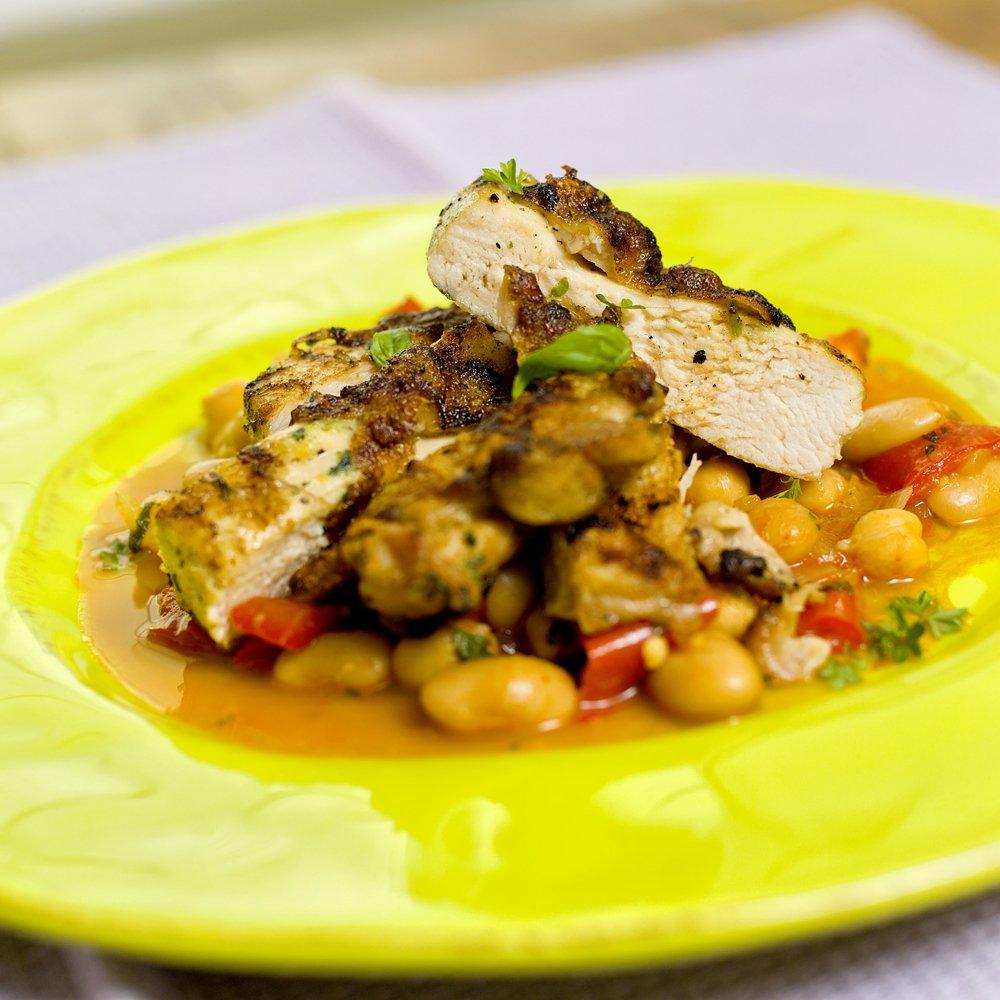 Stekt kylling med bønnesalat