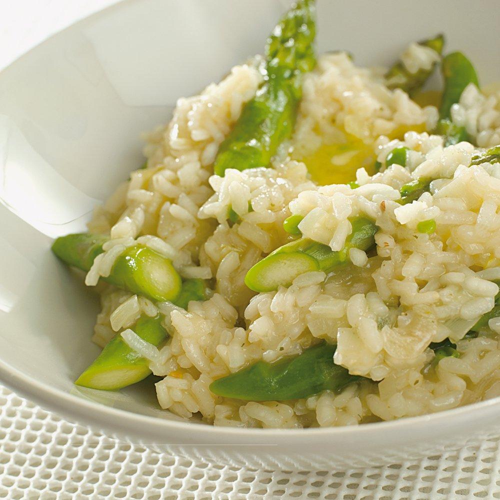 Vårlig risotto med asparges