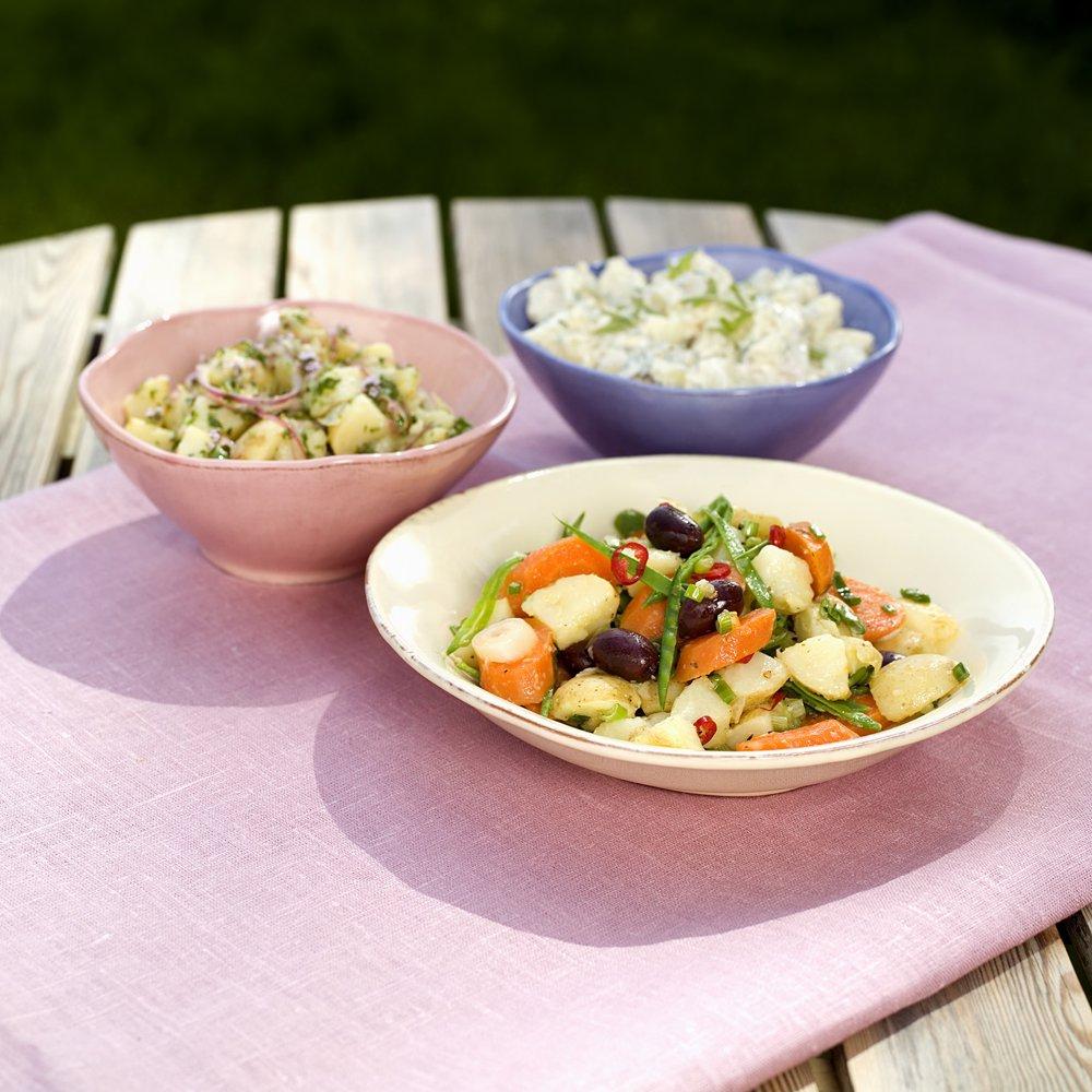 3 deilige potetsalater