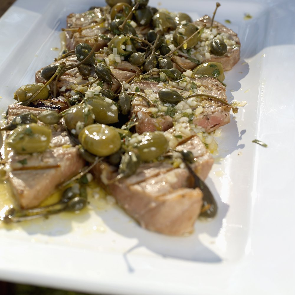 Grillet tunfisk