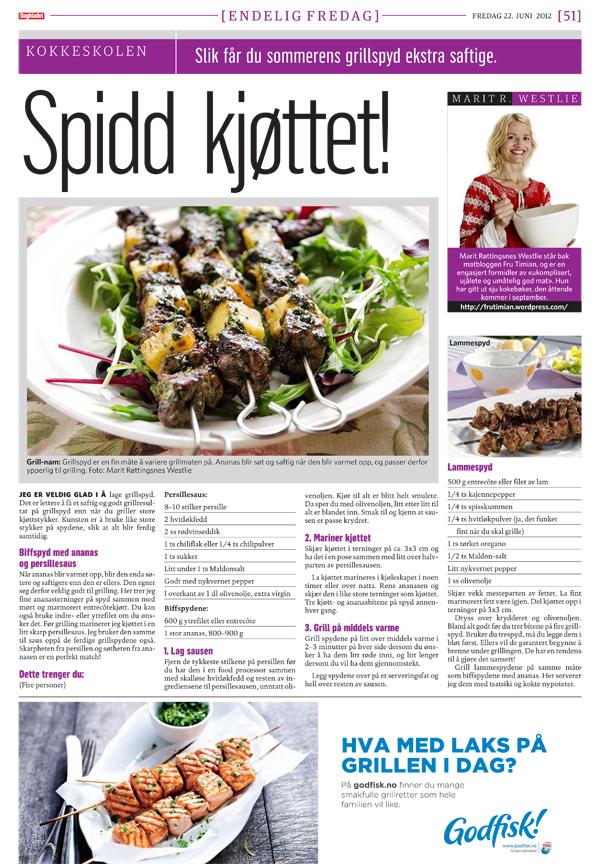 Jeg griller i Dagbladet i dag!