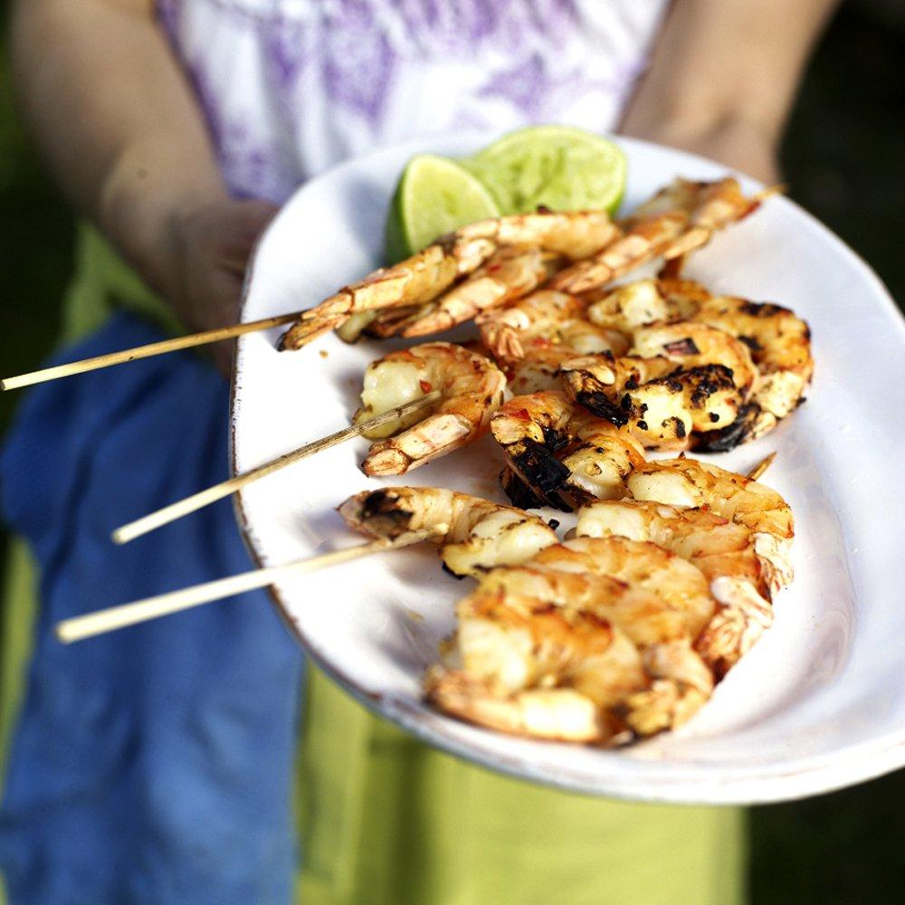 Thaimarinerte scampi på grillen