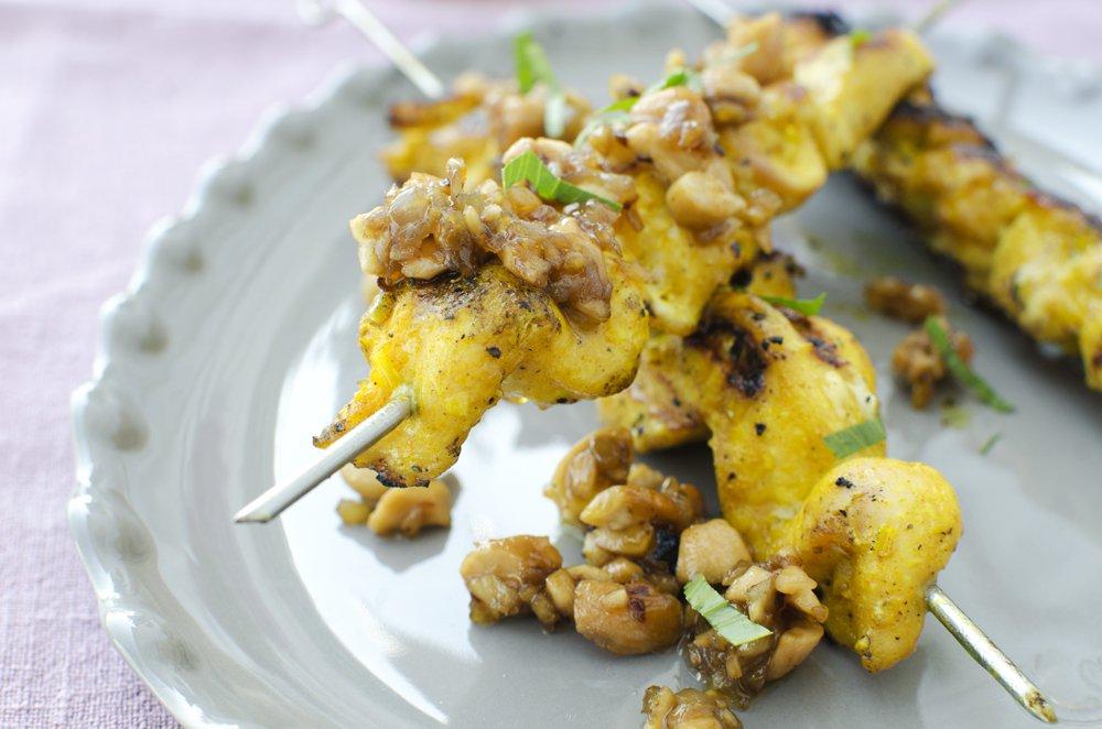Kyllingspyd med sitrongress og cashewnøtter