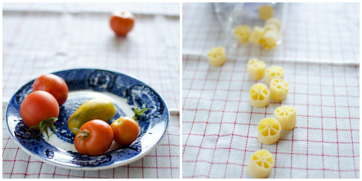 Laks og pasta i ostesaus