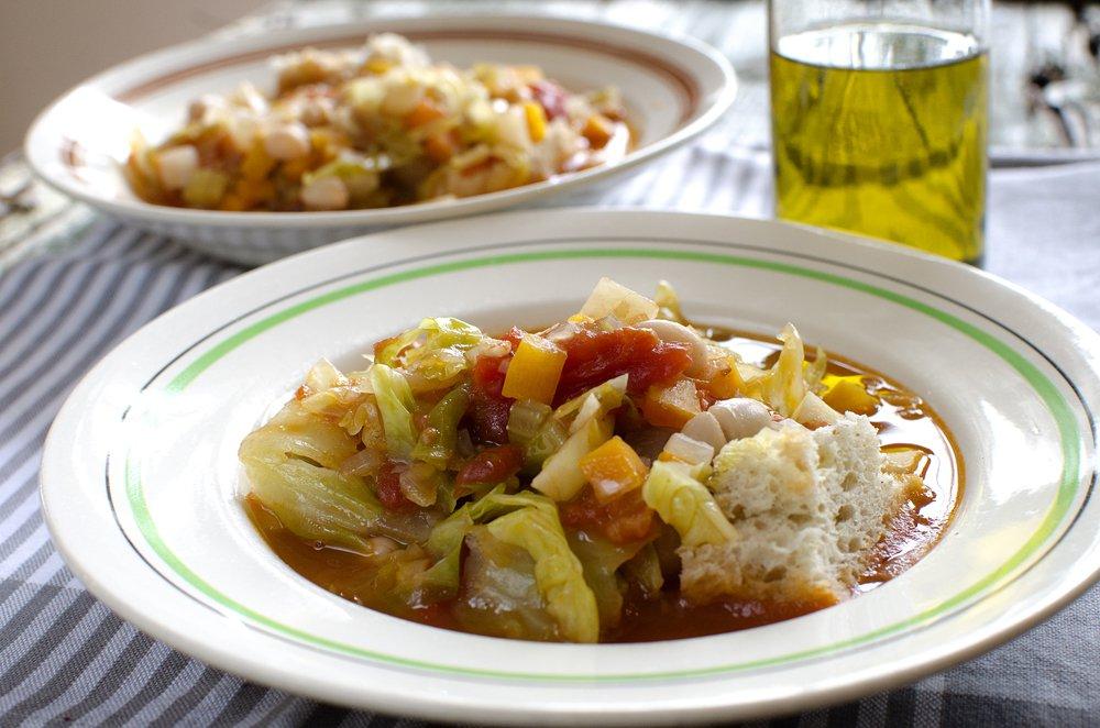 Grønnsakssuppe med italienske aner