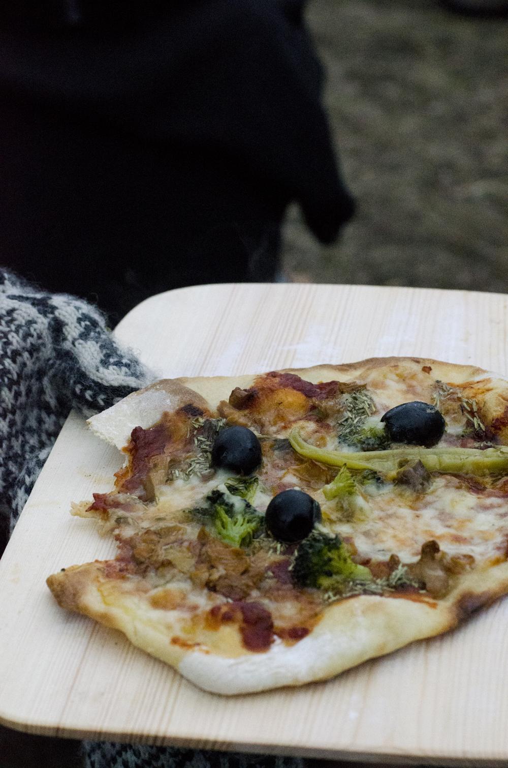 Pizza og skøyter