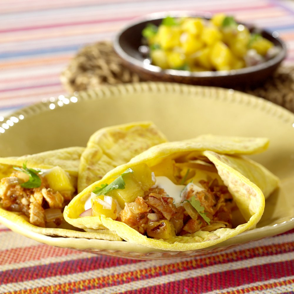 Taco med kylling og deilig salsa