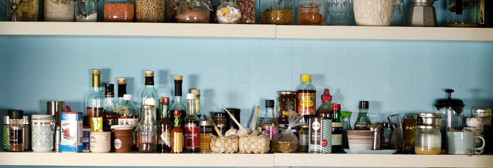 På kjøkkenet