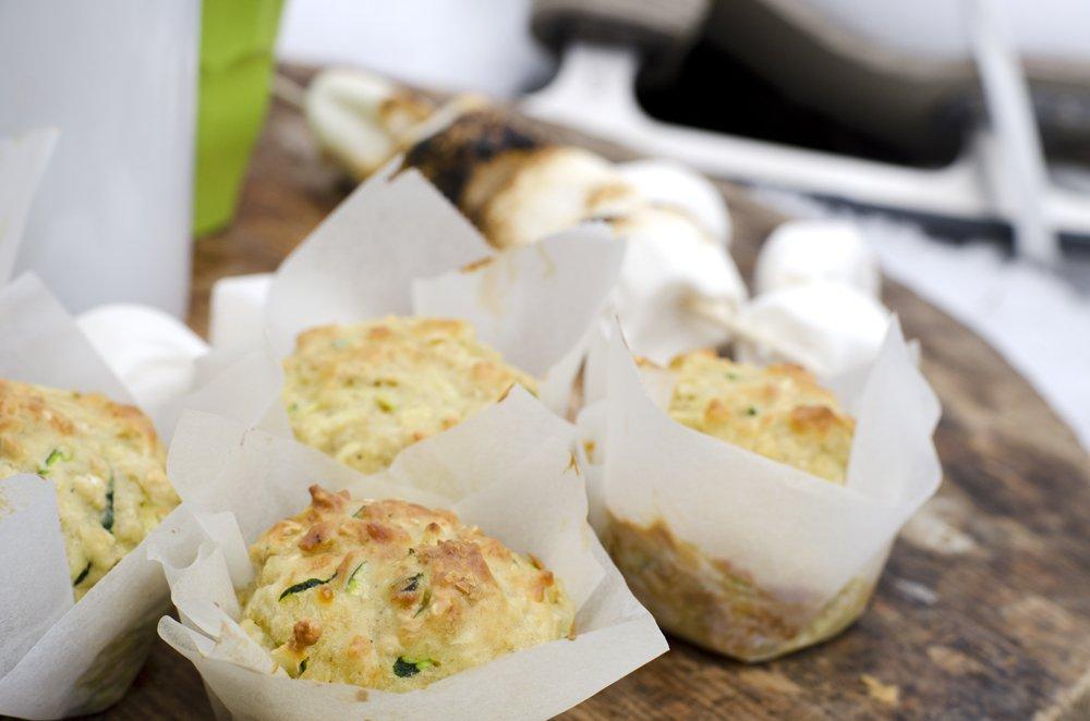 Kjempegode muffins med squash og ost