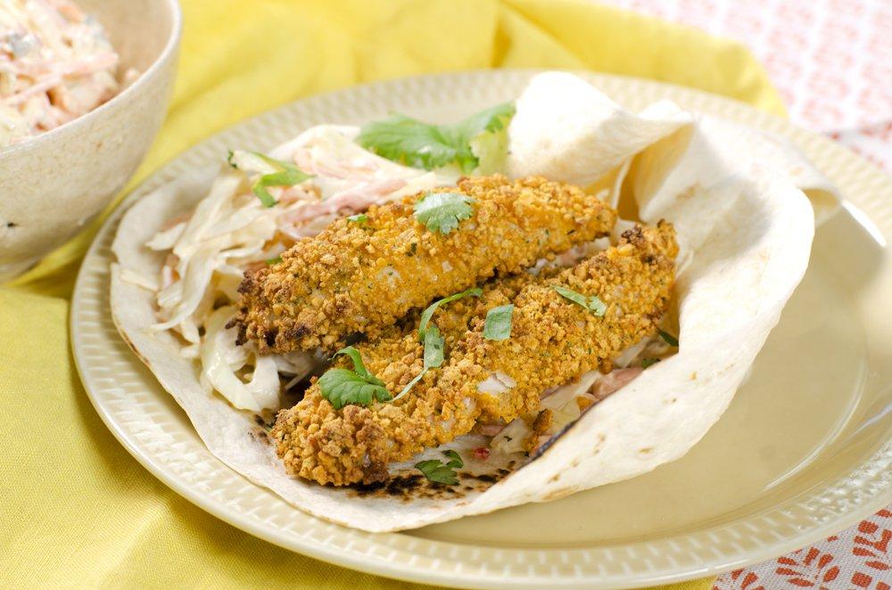 Kyllingtaco med coleslaw