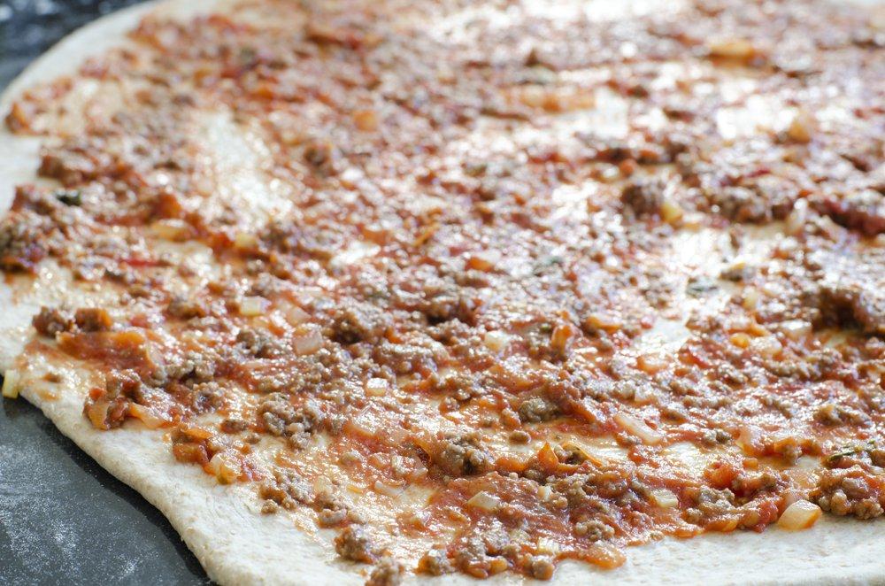 Pizzaboller med tomatsaus