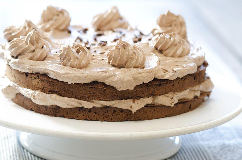 Sjokoladekake med smørkremglasur