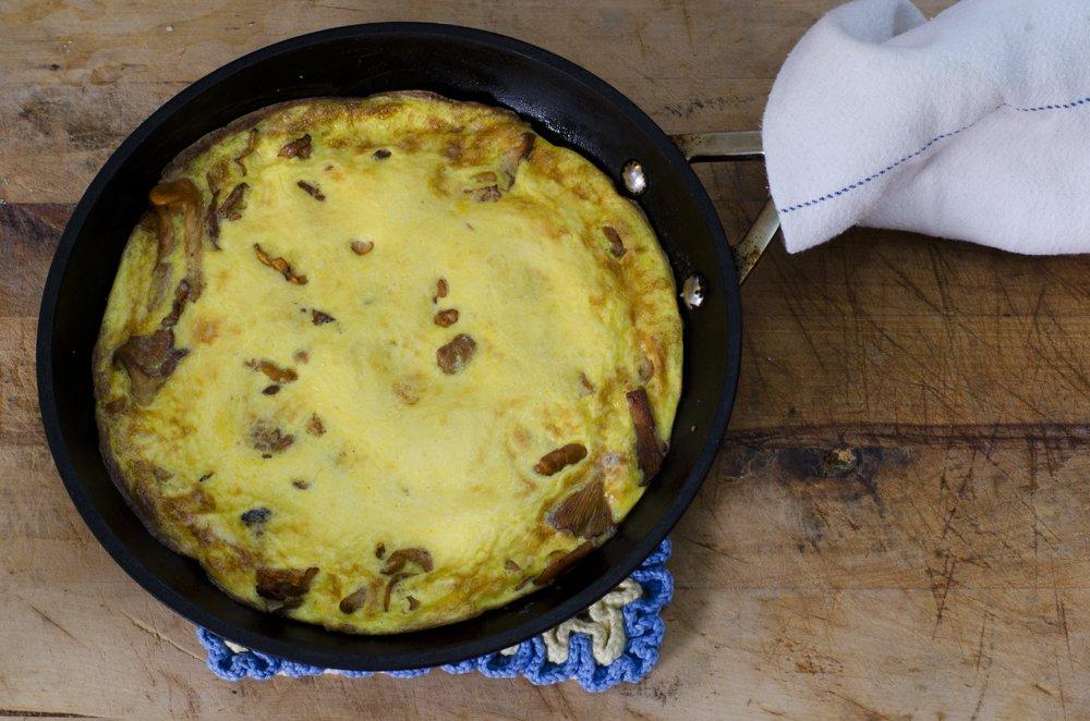 Omelett med kantareller