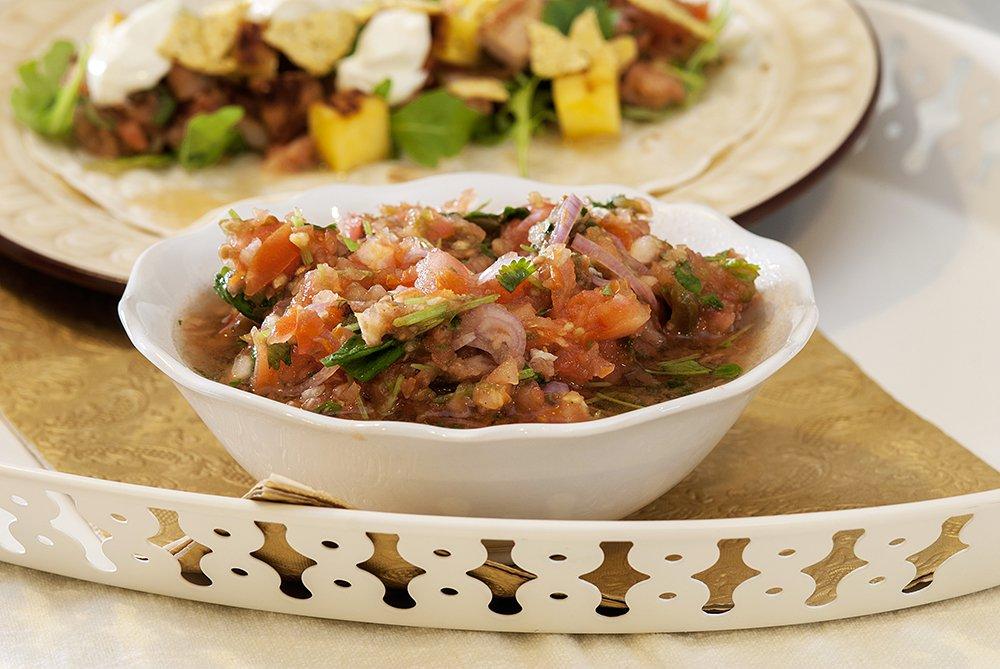 Kjempegod taco laget med svinefilet