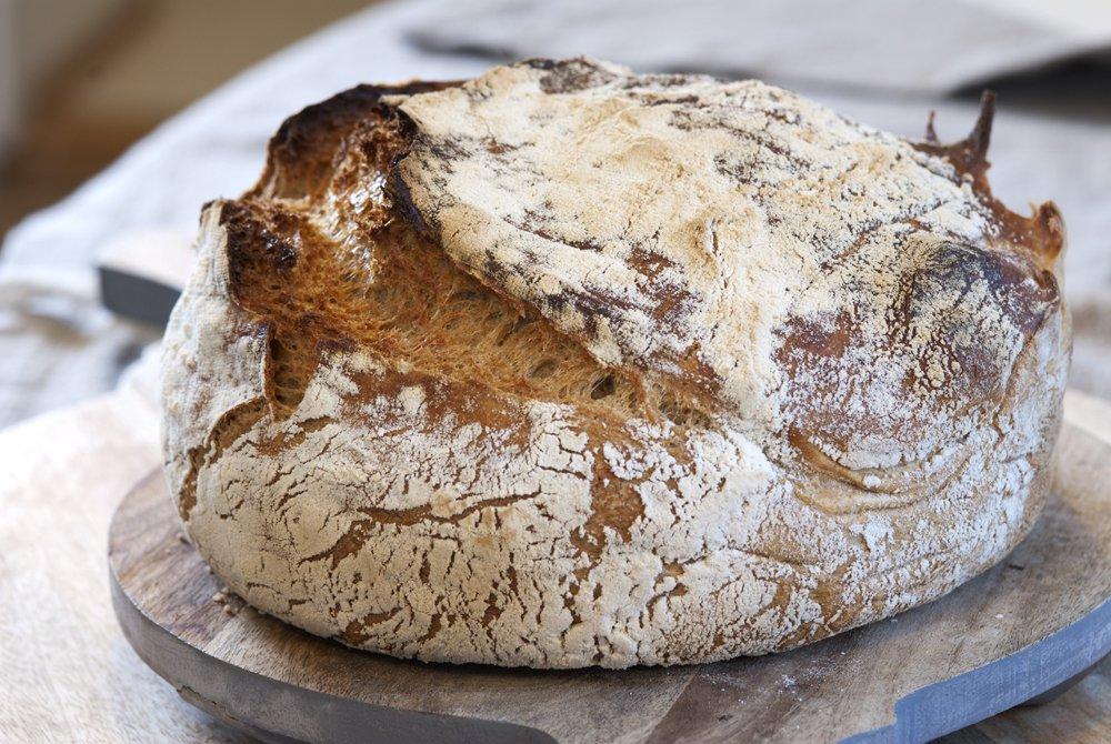 Supergodt og luftig eltefritt brød