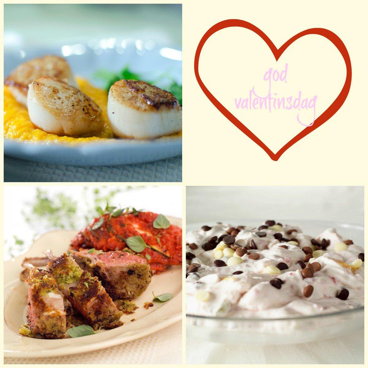 Romantisk middag til valentinsdagen