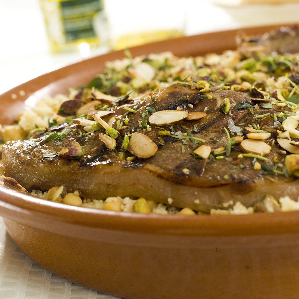 Lam med kikerter og couscous