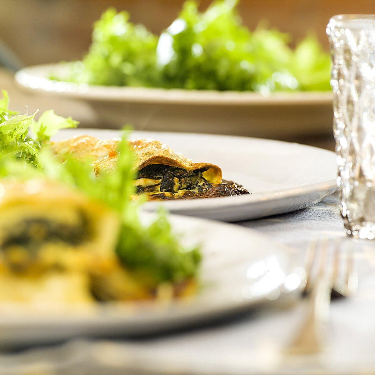 Cannelloni med spinat og grønnkål