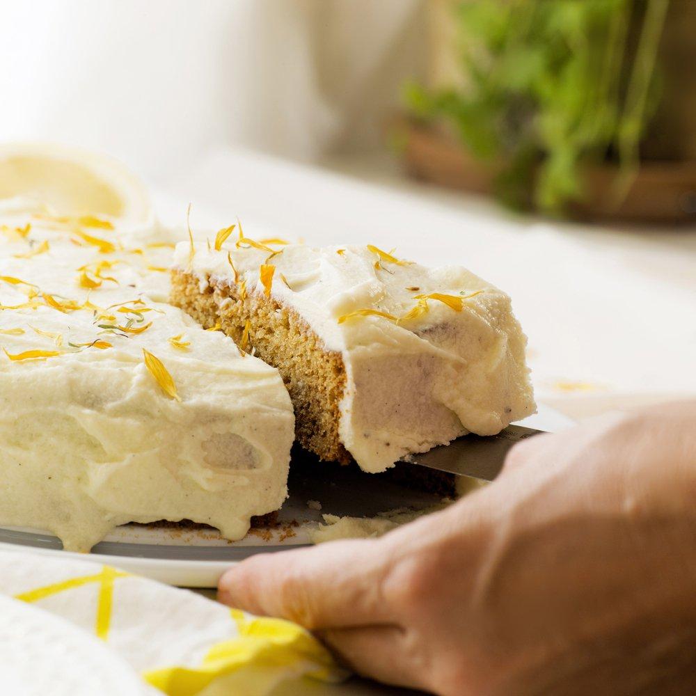 Honningkake med sitronglasur